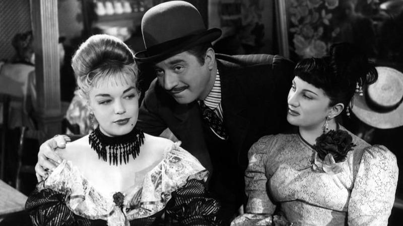 Simone Signoret, Dominique Davray y Claude Dauphin. (Casque d'or. Speva, Paris-Films Productions. 1952.)
