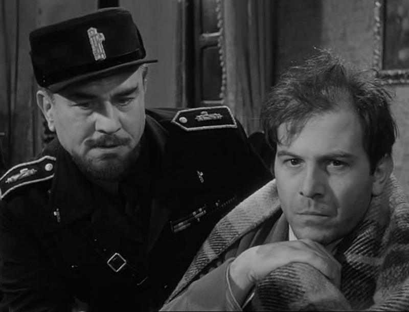 Enrico Maria Salerno y Gino Cervi. (La larga noche del 43. Ajace PC, Eurointer, Films Metzger et Woog. 1960.)