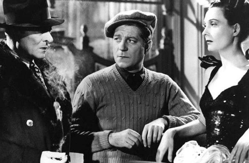 Arletty, Jules Berry y Jean Gabin. (Al despertar el día. Productions Sigma. 1939.)