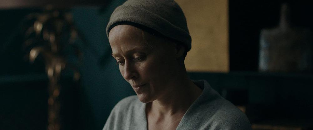 Jennifer Ehle. (Saint Maud. Escape Plan Productions, BFI Film Fund. 2019.)